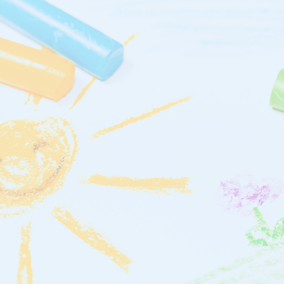 A drawing of a sun and flowers